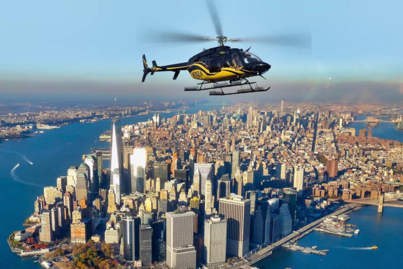 helicopter tour over Manhattan in New York City