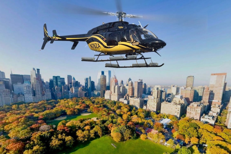 helicopter tour over Central Park in New York City