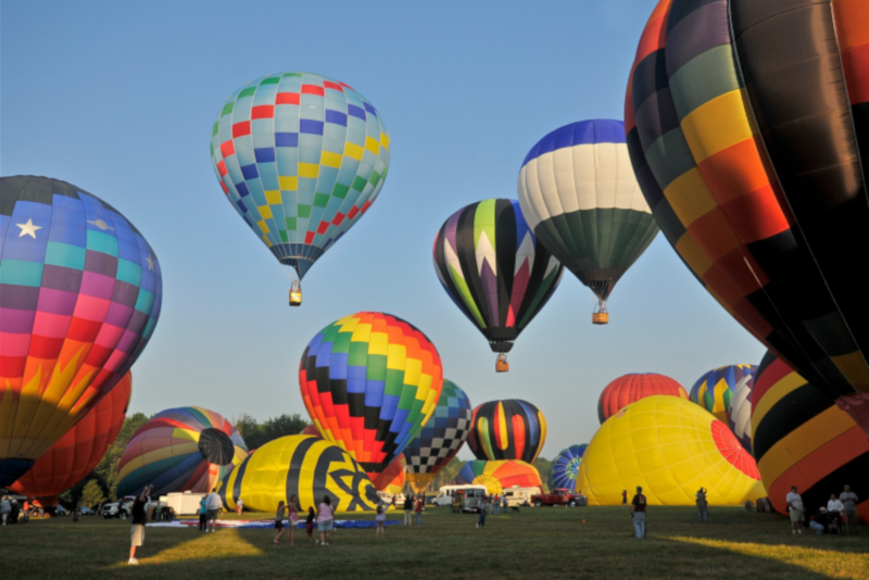 Hot air balloon NJ Festival - day trips from New York City