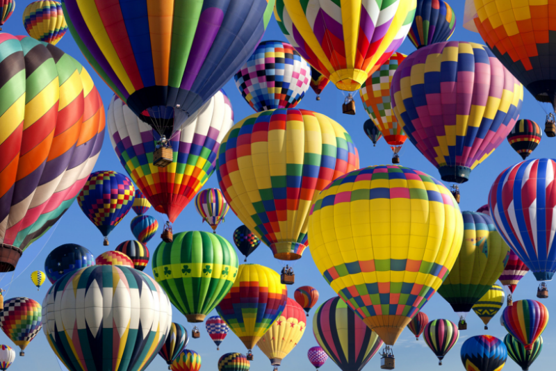 Hot air balloons in New Jersey day trips from New York City