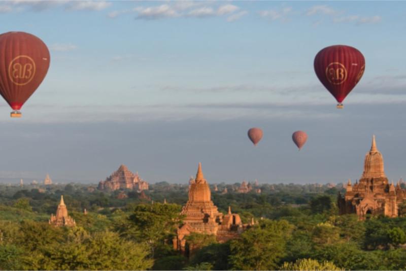Angkor temples hot air balloon - Angkor temples tours