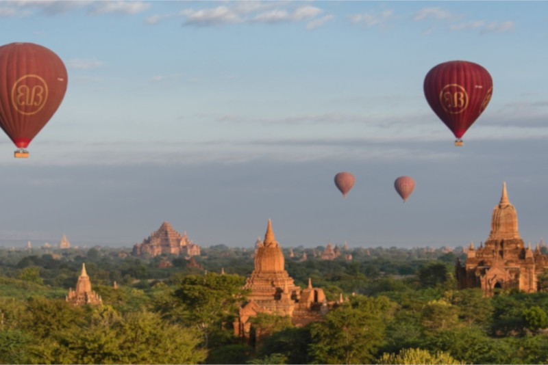 Angkor temples hot air balloon - Angkor temples tours