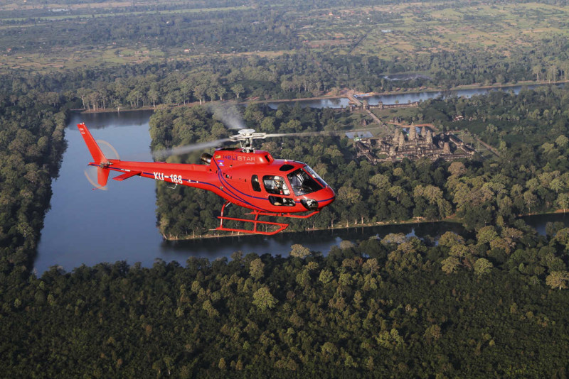 Angkor temples helicopter tour - Angkor temples tours