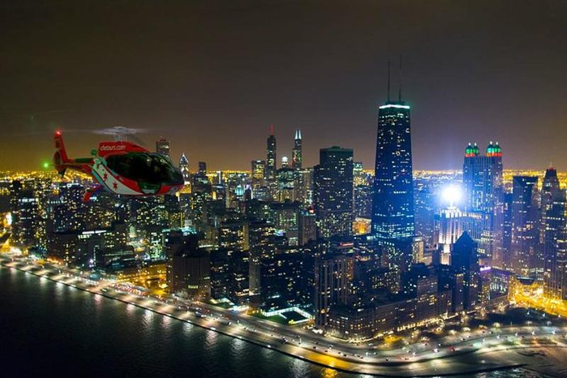 Chicago por la noche paseos en helicóptero