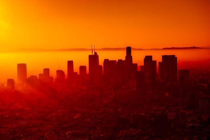 Silhueta de Los Angeles