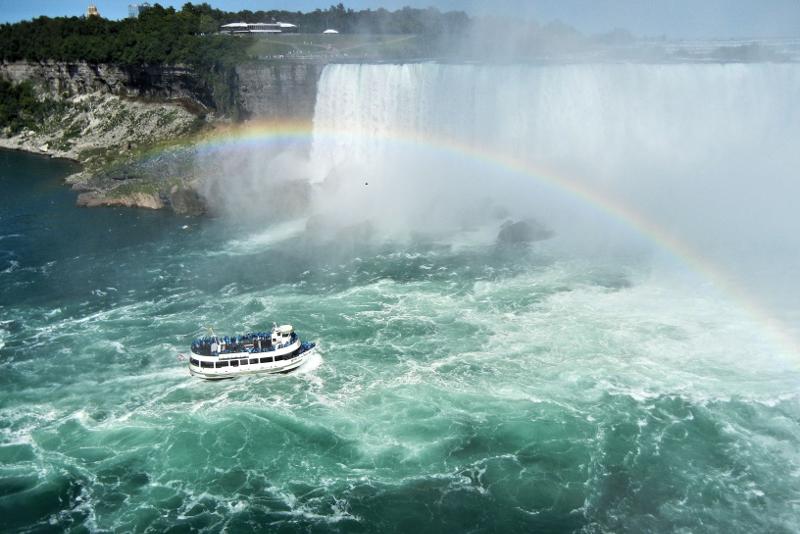 Paseo en barco por las cataratas del Niágara