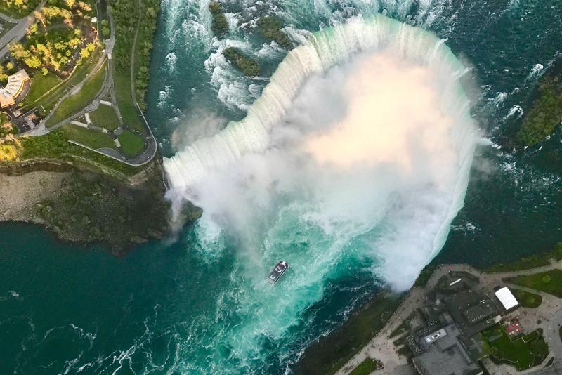 Cascate del Niagara dal cielo