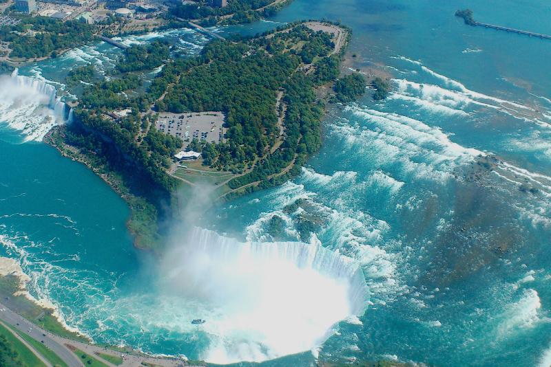 Cascate del Niagara dall'alto