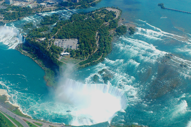 Niagara Falls view from the sky