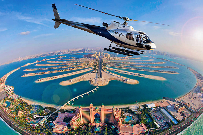 Palm helicopter tours in Dubai