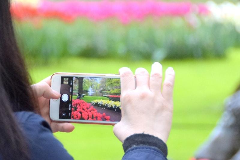 Foto com um telemóvel