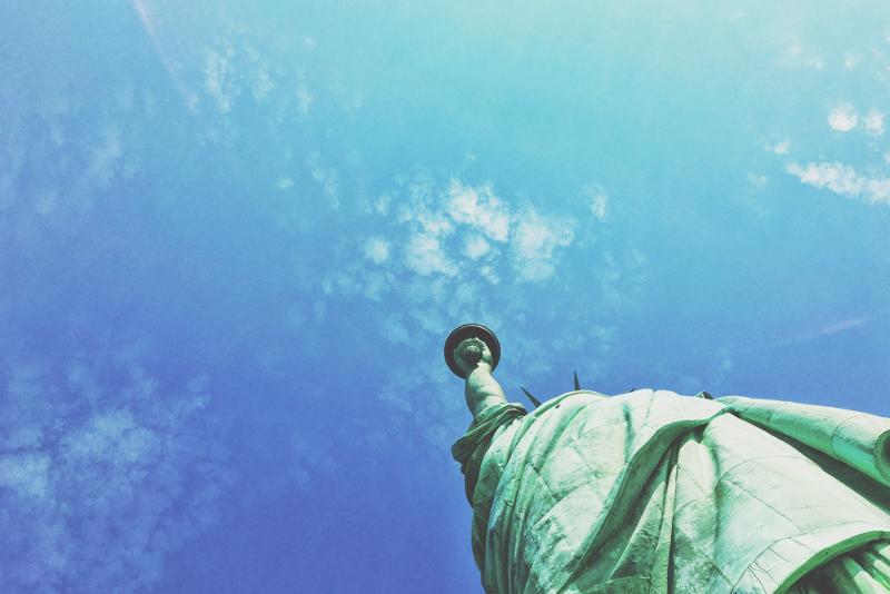 Vista della Statua della Libertà