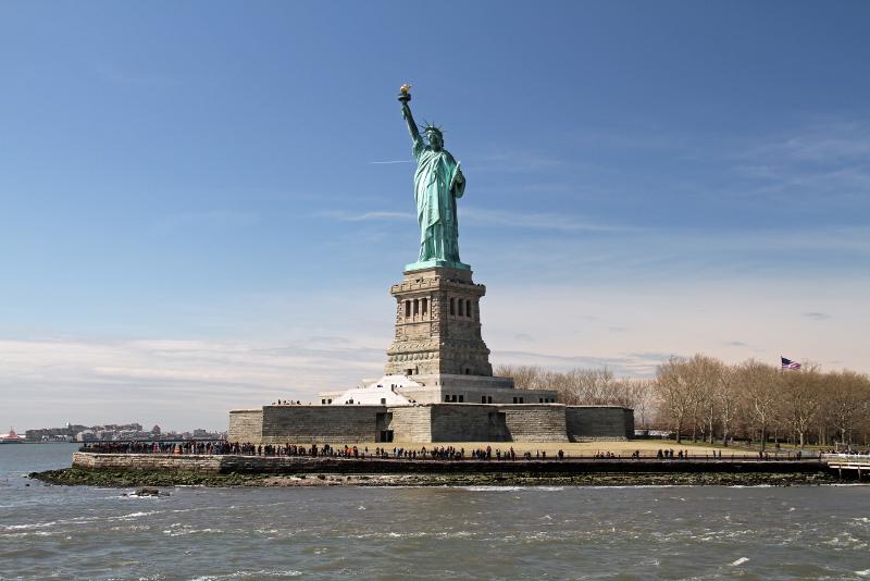 Vista a Estátua da Liberdade