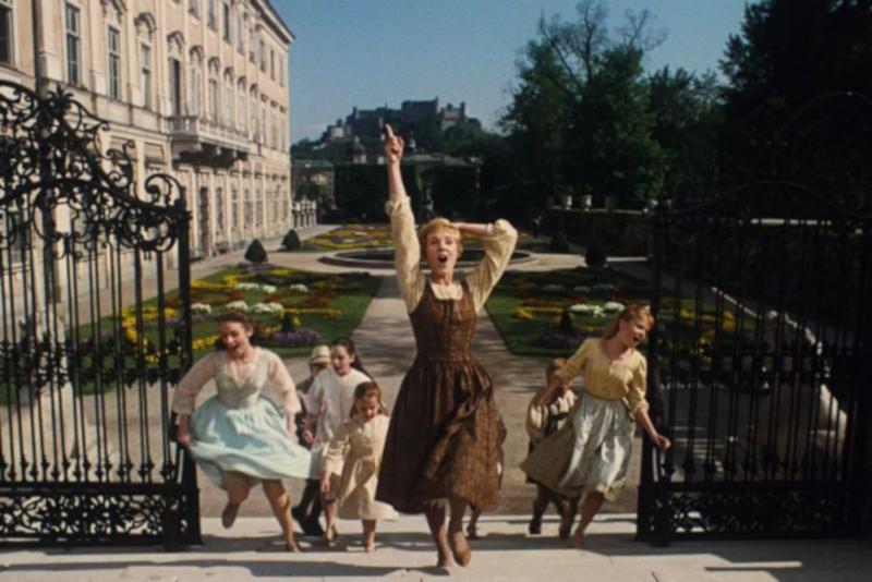 Scena del film al palazzo di Mirabell
