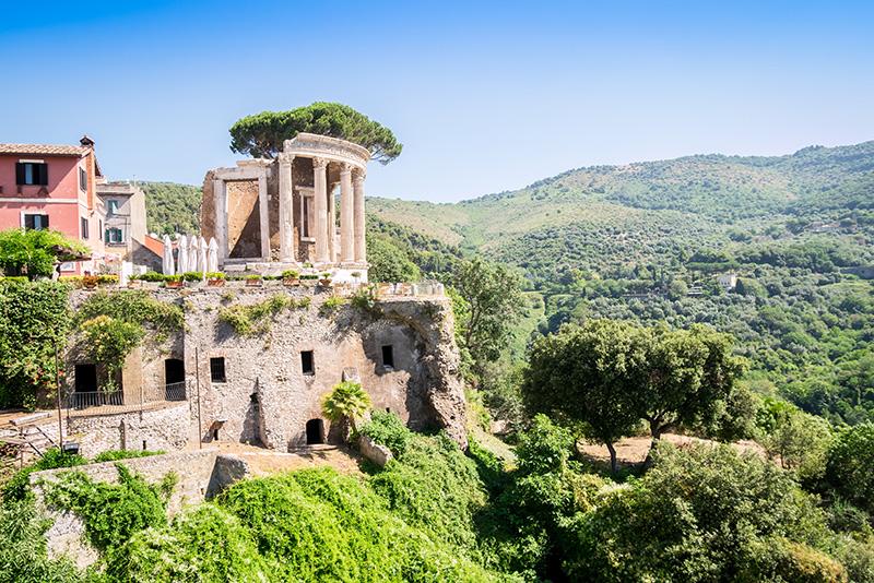 Villa gregoriana - tours de la villa de Adriano