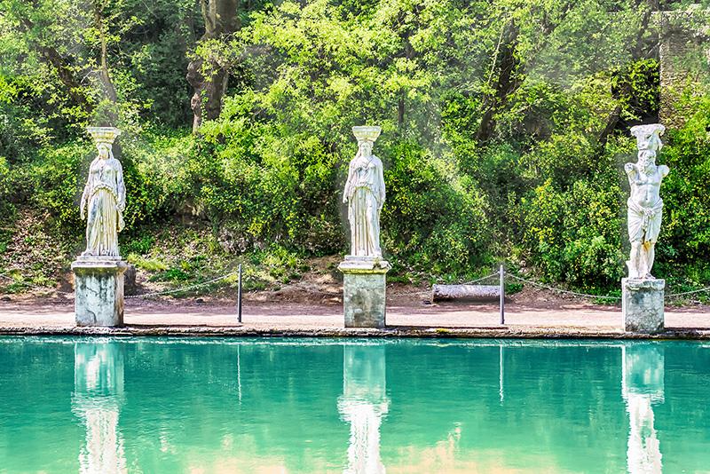 Estatuas - Tours de la villa de Adriano