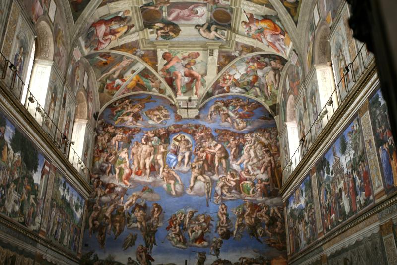 Plafond de la chapelle Sixtine accès anticipé