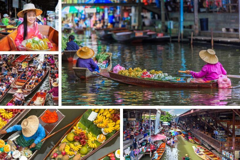 Excursions en bateau sur le marché flottant - Excursions en bateau à Bangkok