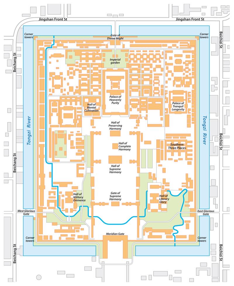 Plan de la Cité Interdite