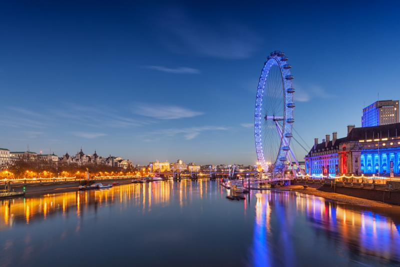 El mejor momento para visitar el London Eye.
