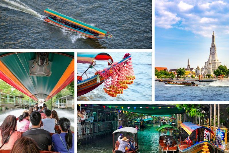 Excursion en bateau à longue queue et khlong - Excursions en bateau à Bangkok