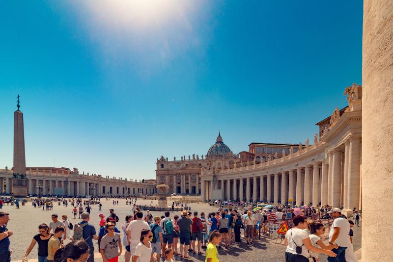 Der Petersdom überspringt die Line-Tickets