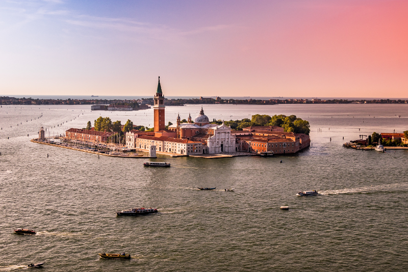 Murano view from helicopter