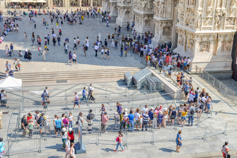 Eviter la file d'attente au Duomo de MIlan