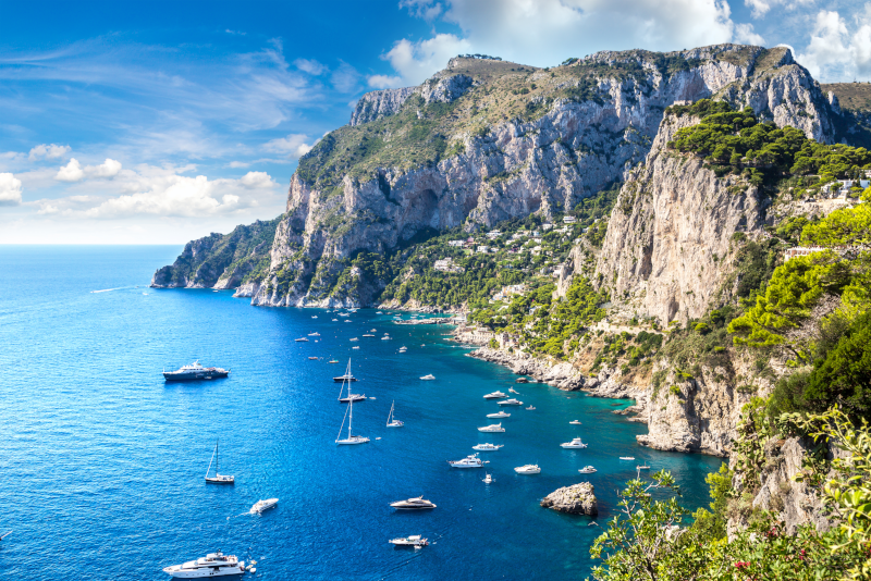 Capri day trips from Naples