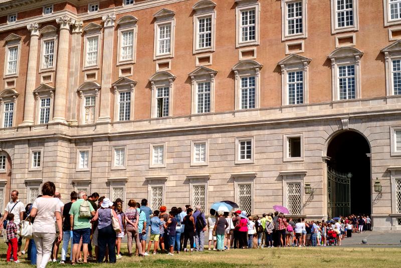 Eviter la file d'attente au Palais Royal de Caserte