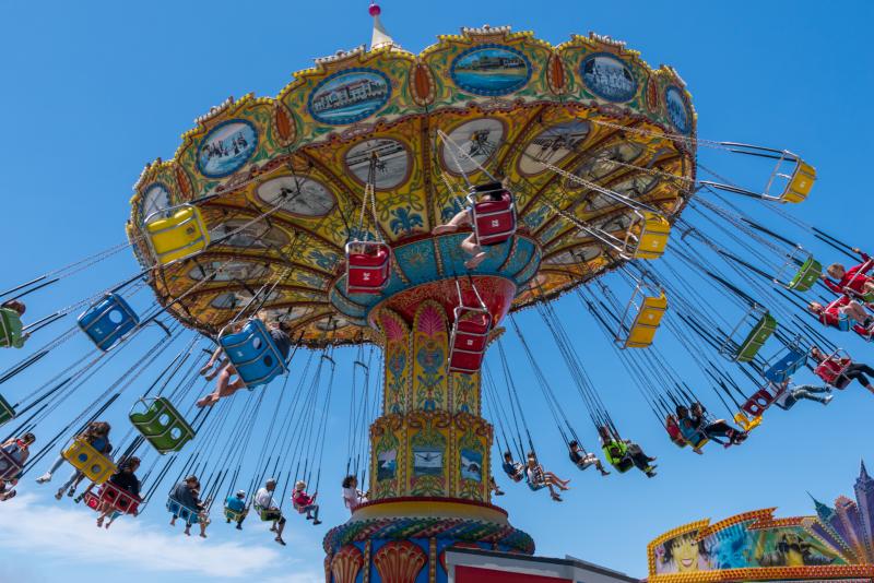 Santa Cruz Beach Boardwalk # 6 parcs d'attractions en Californie