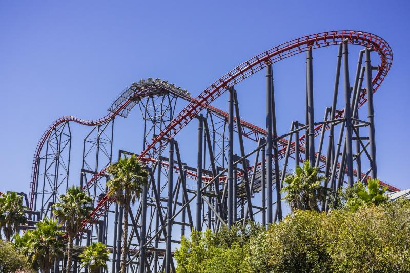 Six Flags Magic Mountain # 5 parcs d'attractions en Californie