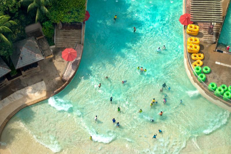 Adventure Cove Waterpark - N ° 3 des meilleurs parcs d'attractions à Singapour