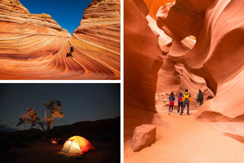 Tour di 2 giorni in campeggio Grand Canyon, Antelope Canyon e Horseshoe Bend