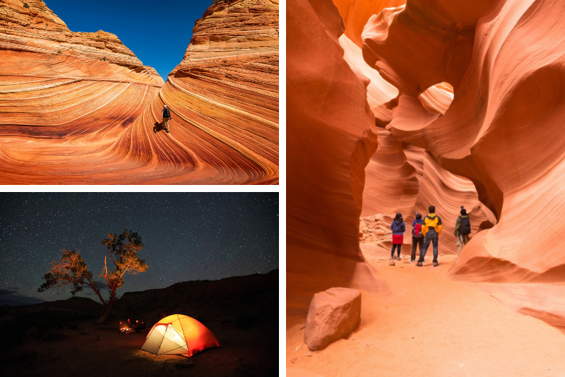 2-Day Camping Tour Grand Canyon, Antelope Canyon and Horseshoe Bend