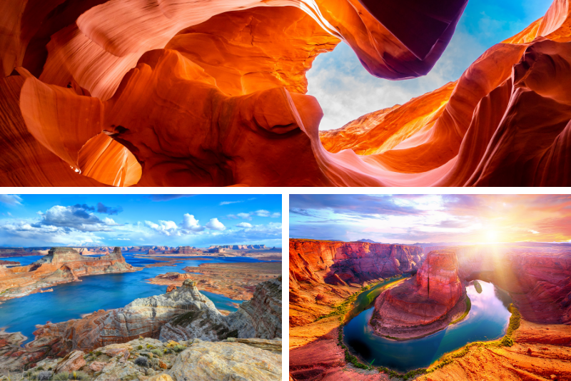 Tour di un giorno all'Antelope Canyon, Horseshoe Bend, Lake Powell e Navajo Nation da Phoenix