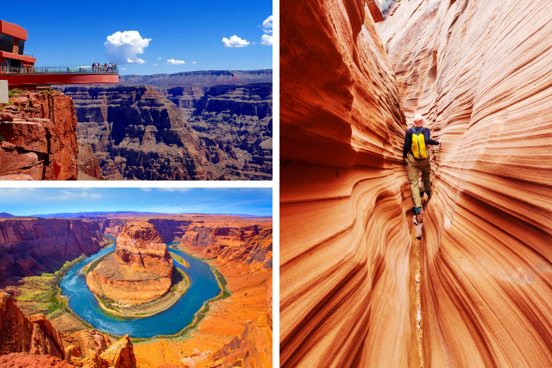Tour di 3 giorni a Las Vegas, Lower Antelope Canyon e Horseshoe Bend da Los Angeles