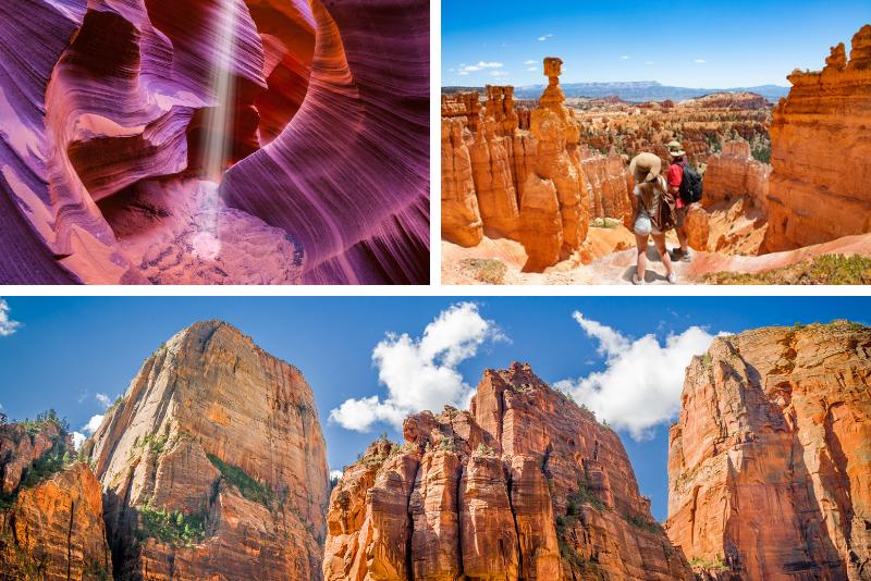 Tour di 4 giorni di Antelope, Zion, Bryce Canyon e Horseshoe Bend da Los Angeles
