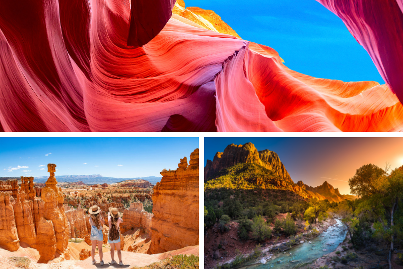 Zion National Park di 4 giorni, Bryce National Park, Antelope Canyon, Lake Powell