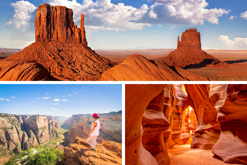 Antilope e Grand Canyon, Sion, Bryce e Monument Valley