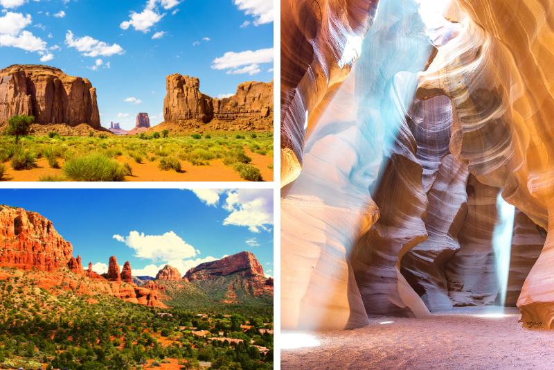Tour di 3 giorni a Sedona, Monument Valley e Antelope Canyon da Las Vegas