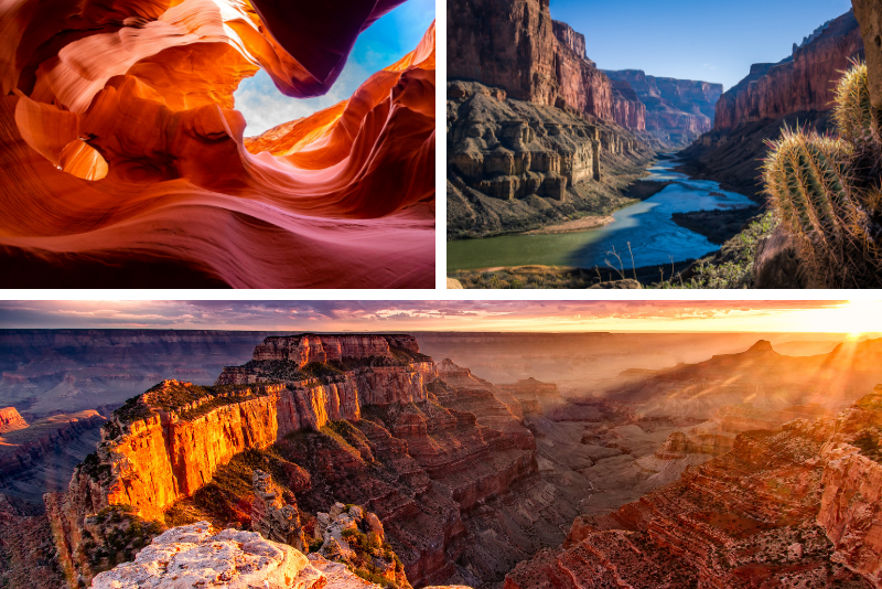 Da Las Vegas Antelope e Grand Canyon Sunrise Tour - 2 giorni