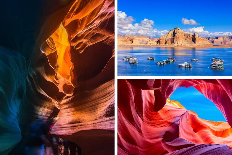 """Antelope Canyon """"Triple Crown"""" di 2 giorni con tour in barca sul lago Powell"""