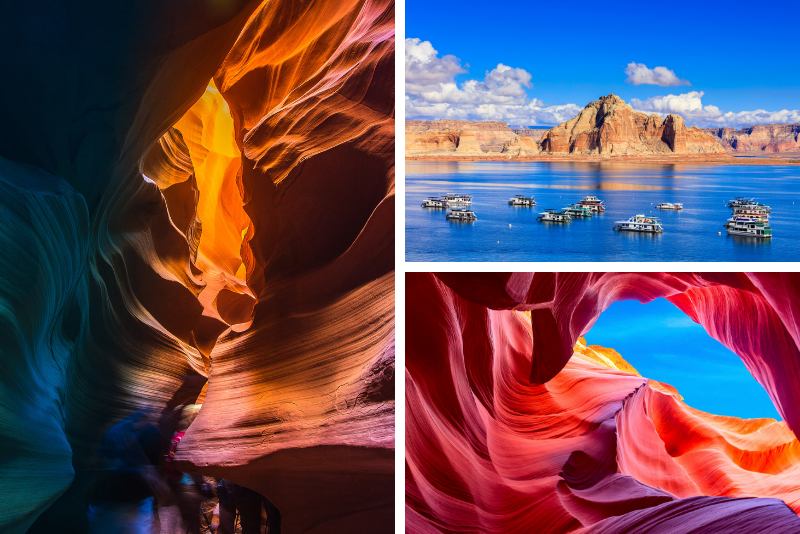 "Antelope Canyon ""Triple Crown"" di 2 giorni con tour in barca sul lago Powell"