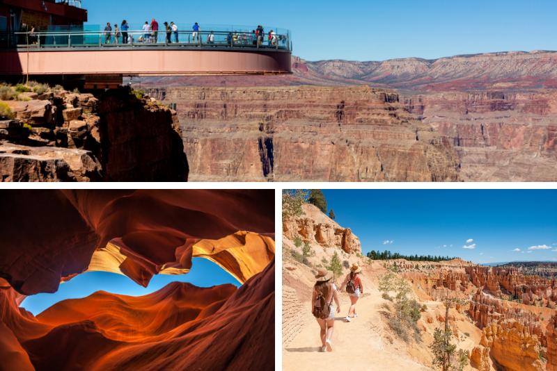 Tour privato di 3 giorni Grand Canyon Zion Bryce Monument Valley e Antelope Canyon