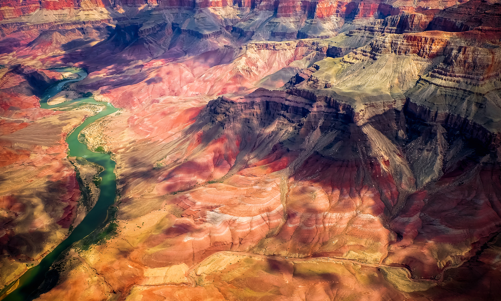 Aereal view of the Grand Canyon