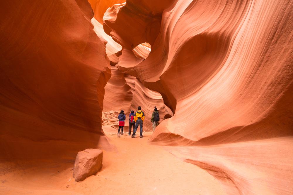 Excursão em grupo pelo Antelope Canyon