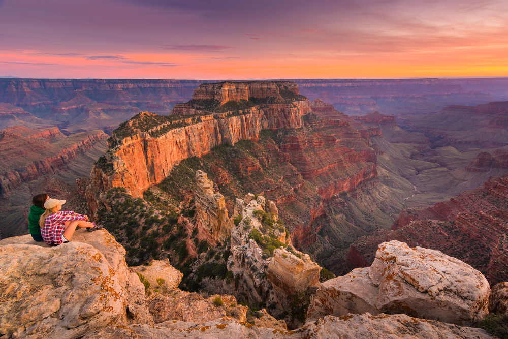 Grand Canyon ao entardecer
