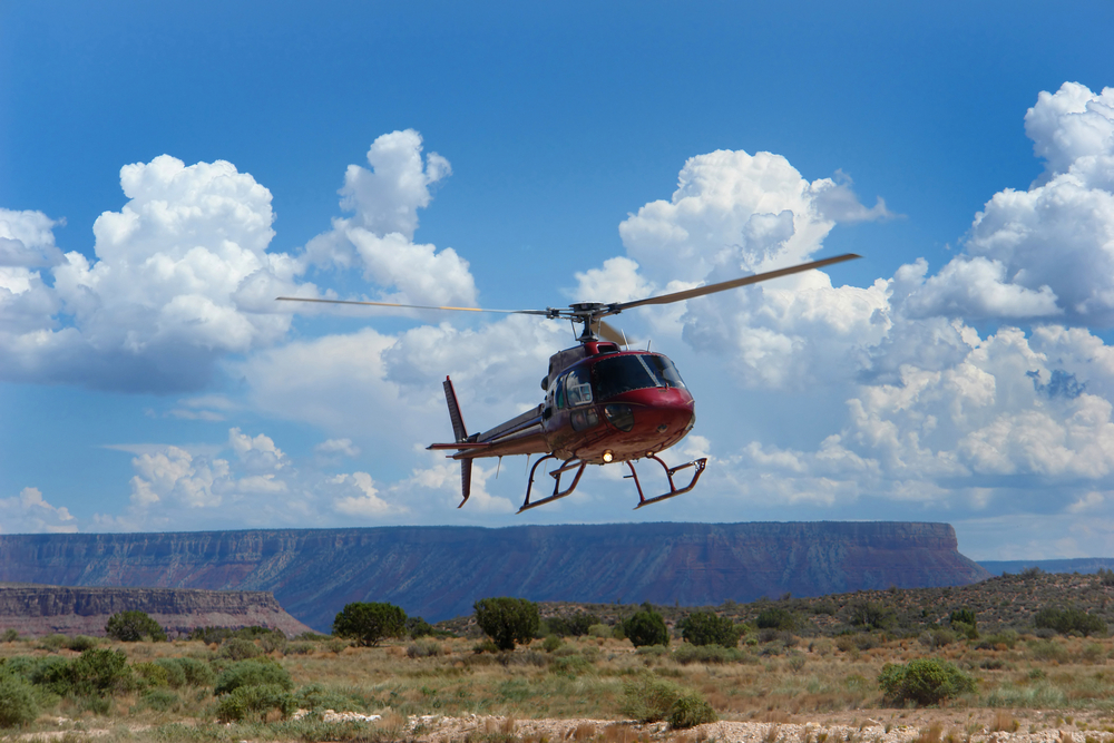 Helicopter landing Grand Canyon West Rim