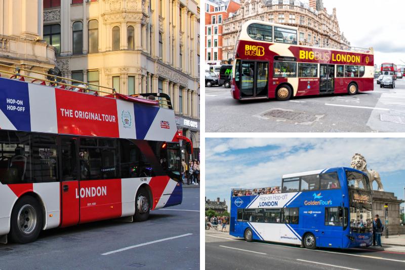 Compañías de tours en autobús por Londres